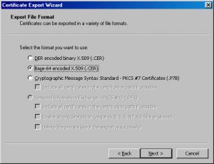 Esporta certificato